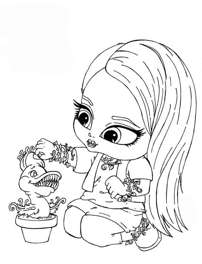 Monster high para colorear - Coloriage monster high baby ...